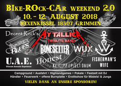 Plakat zum Bike-Rock-Car Weekend des Engine-Grimmen e.V.